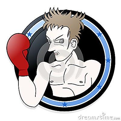 Emblem of boxer