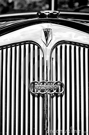 Emblem of the car DKW (Auto Union) Editorial Image