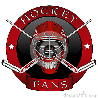 The emblem of the hockey fans