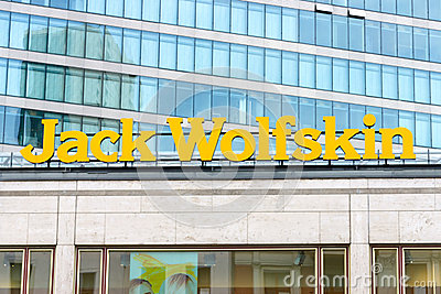 The emblem of Jack Wolfskin Editorial Image