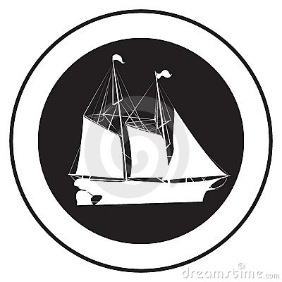 Emblem of an old ship