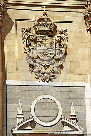 The emblem of the Spanish royal court