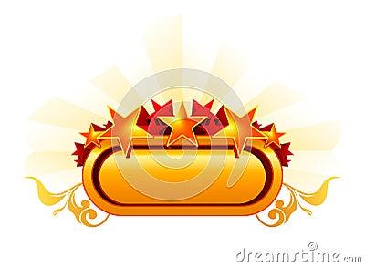 Emblem with the stars, orange