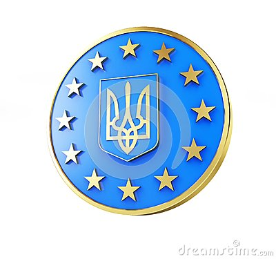 Emblem of Ukraine Flag of Europe