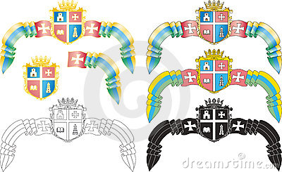 Emblem of the Ukrainian city of Kremenets