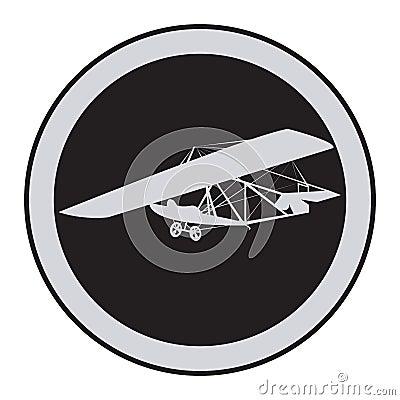Emblem of an vintage glider