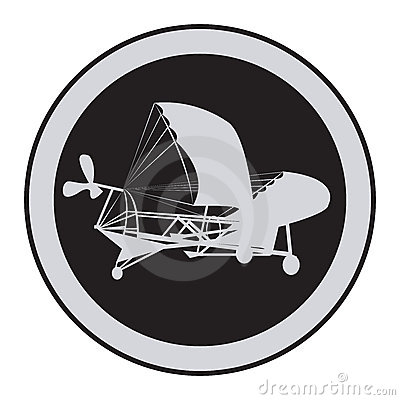 Emblem of an vintage plane