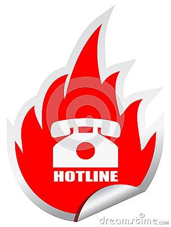 Emblema del teléfono directo