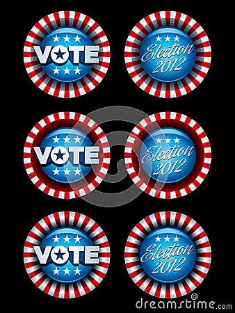 Emblemas da eleição ajustados