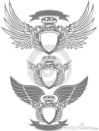 Emblemata silnik Turbo