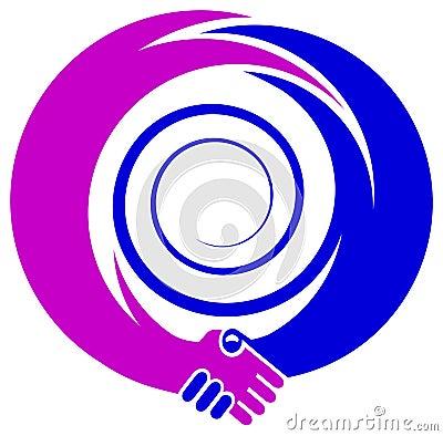 Emblemata uścisk dłoni