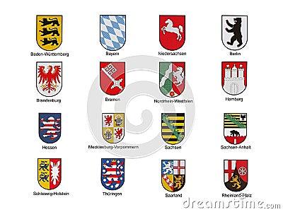 Emblems of german federal lands
