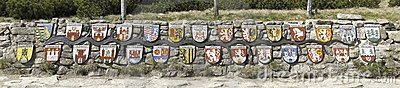 Emblems of towns along Labe river