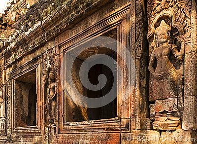 Embossment in Angkor Wat