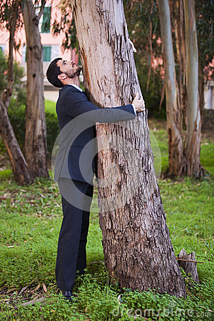 Free Embrace A Tree Trunk Stock Photo - 54437630