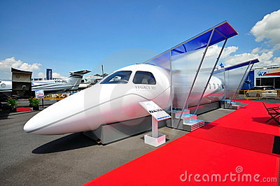Embraer Legacy 500 demonstration model at Airshow Editorial Image