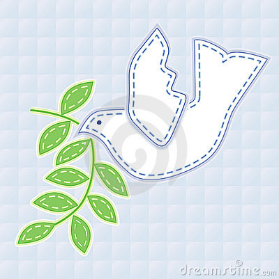 Embroidered Dove of Peace