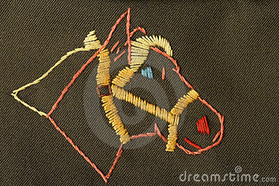 Embroidered horse head