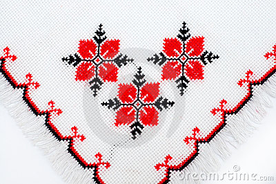 Embroidered serviette