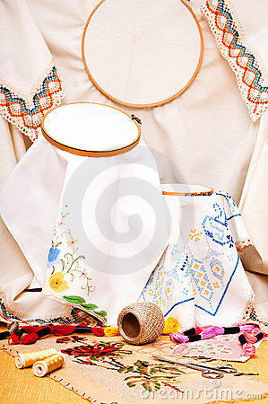 Free Embroidery Stock Image - 16021541