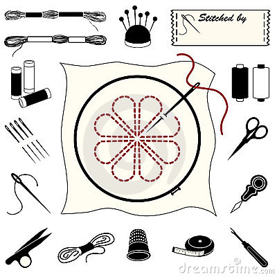 Free Embroidery And Needlework Icons Stock Photos - 9252153