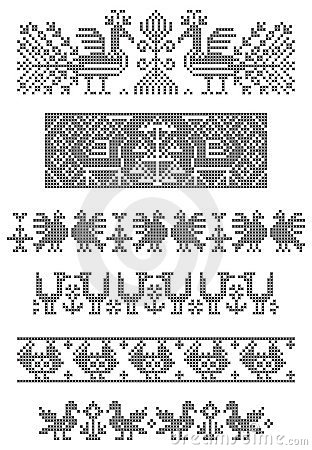 Embroidery, borders