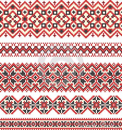 Embroidery cross-stitch pattern