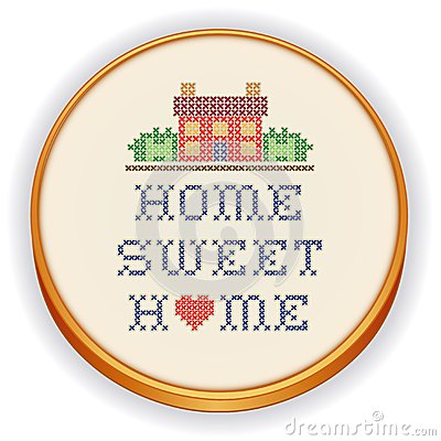 Embroidery, Home Sweet Home Cross Stitch