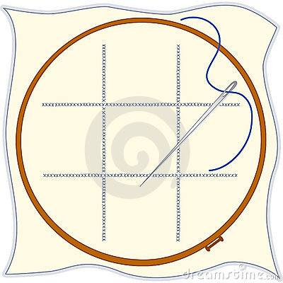 Embroidery Hoop, Cross-stitch, Needle & Threa