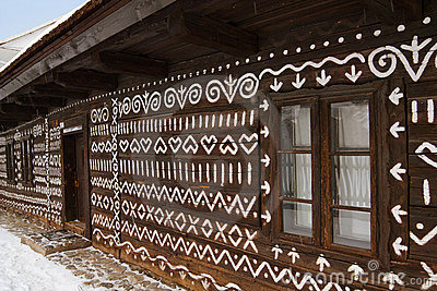 Embroidery motif cottage in cicmany