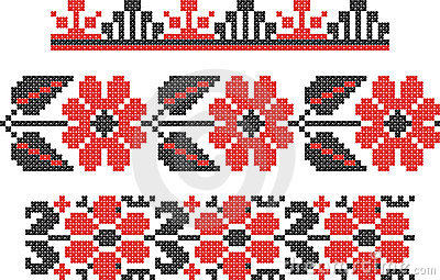 Embroidery Slavic cross pattern