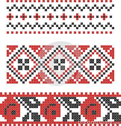 Embroidery Slavic cross pattern