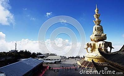 Emeishan jinding beautiful scenery in China