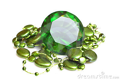 Emerald and beeds