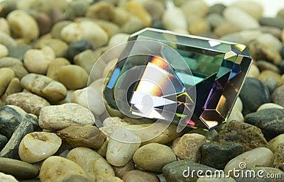 Emerald Cut Faceted Gemstone