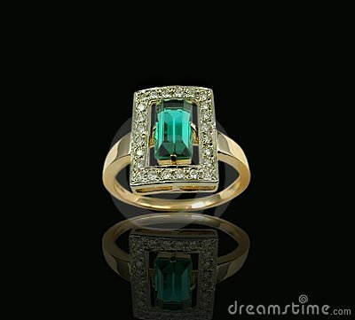 Free Emerald & Diamond Ring Stock Images - 1798964