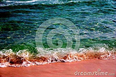Emerald Green Beach Water