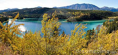 Emerald Lake at Carcross, Yukon Territory, Canada