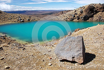 Emerald lakes in Tongariro