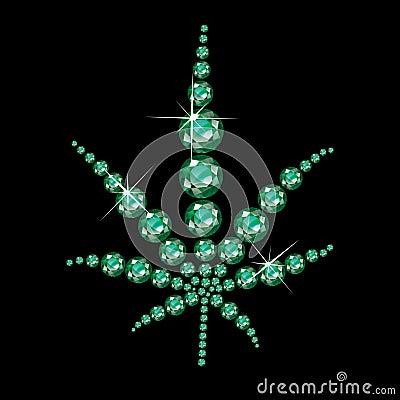 Free Emerald Marijuana Leaf Stock Photos - 33152393