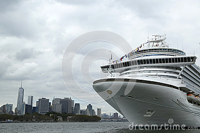 Emerald Princess Cruise Ship docked at Brooklyn Cruise Terminal Editorial Stock Image