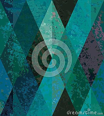 Emerald seamless background. diamond-shaped mosaic