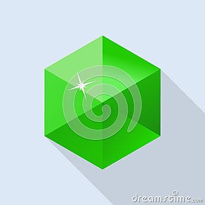 Free Emerald Stone Icon, Flat Style Royalty Free Stock Photo - 117045935