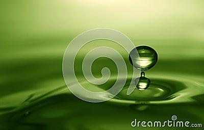 Emerald water drop