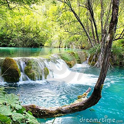 Free Emerald Waterfall Stock Image - 12132251