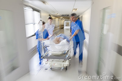 Emergencia paciente del hospital de la camilla del ensanchador de la falta de definición de movimiento