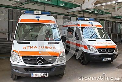 Emergency ambulance car Editorial Stock Image
