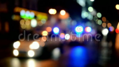 Emergency car with blinking siren on the street in the night police emergency car with blinking siren on the street in the night police cars control the security stock footage video of light crash 83616088 aloadofball Image collections