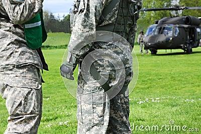 Emergency Disaster Blackhawk Helicopter Evacuation