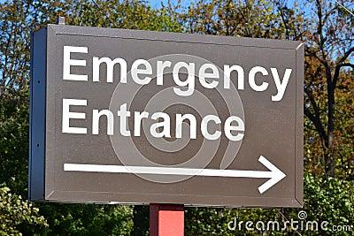 Emergency Entrance Sign